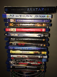 Group Of Assorted Blurays For Sale.