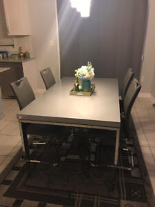 Rectangular Dining Table complete with 4 chairs
