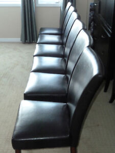 """Set of 6 """"Parson"""" Dining room chairs"""
