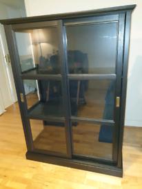 IKEA Black Display Cabinet - NEW