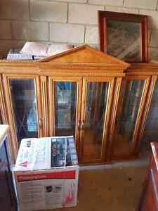 Solid oak hutch two pieces