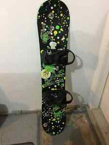 Rossignol snowboard, bindings and boots