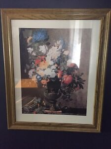 "19x23"" flowers in vase picture"