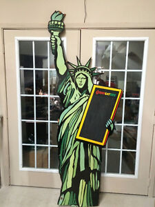 Statue of Liberty, Cool Double Sided restaurant type Sign