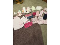 Baby girl bundle of clothes age 0-3 months