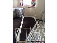 Ikea white single bed frame £20