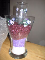 5 Center pieces or vases - NEW PRICE -FREE DELIVERY O.B.O