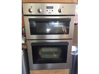 Built in Zanussi electric double oven and hob