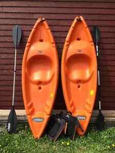 2 Kayaks Pelican 8 pieds