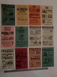 MOVIE THEATRE PROGRAM CARDS