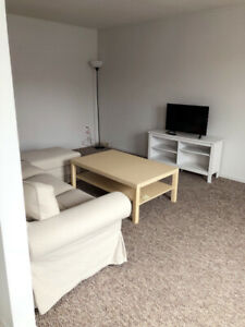 Furnished two bedroom apartment is available from April 1