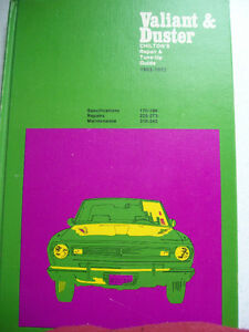 MOPAR VALIANT DUSTER CHILTONS REPAIR TUNE-UP GUIDE BOOK