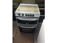 Black & silver cannon 55cm gas cooker grill & oven good condition with guarantee