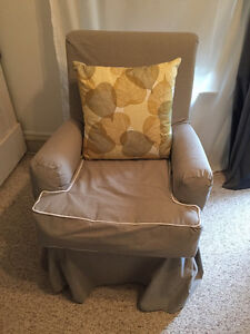 Reupholstered Glider Chair