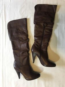 Brown Leather Boots Women's Size 9