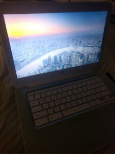 White HP Chromebook Laptop