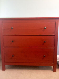 Ikea, Kids wardrobe, candy apple red