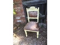 french louis style chair in crushed velvet French Country Aged Shabby Chic Sale