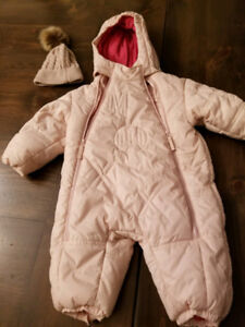 Mexx girl toddler/baby 1-piece snow suit - 9 to 12 month
