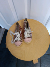 Pair kids boots size 7 from next pink glitter