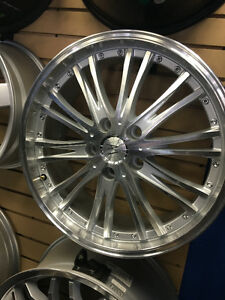 18 inch Anheles Luxury Wheels -- Silver / Machined 5x114.3