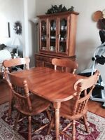 8 Piece Solid Maple Dining Set