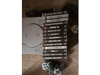 Playstation 1 with 14 games