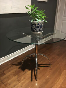 Glass Kitchen Table 36""