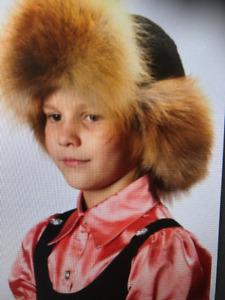 Under 12 youth kids Fashionable Brand New  Winter Fox Fur  Hats