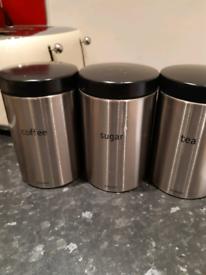 3 storage tins