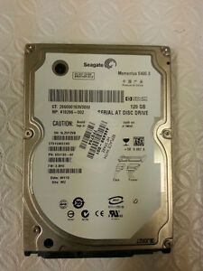 120GB Seagate SATA I Laptop 2.5 Hard Drive
