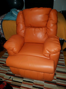 Bmaxx bonded leather power recliner from The Brick