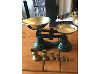 Lovely set of vintage style scales and weights
