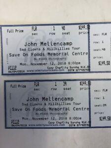 John Mellencamp floor tickets