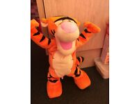 Baby toys, dancing tigger and playskool toy