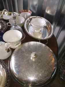 Antique China And Silver Plated Trays Kitchener / Waterloo Kitchener Area image 2