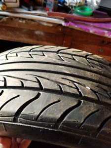 two diferent size 17 inch tires