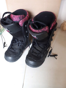 Women's snowboard boots price reduced to 20.00