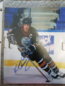 Kelly buchberger signed oilers photos