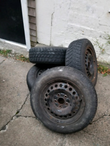 4 winter tires on rims 15 inch