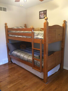 Beautiful Brazillian Wood Bunk Beds- can be used for two singles