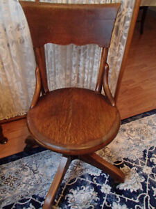 Vintage Wood  Chair --Desk/Office