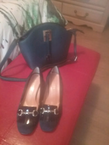 Ensemble souliers et sac à main en cuir achetés  en Italie.