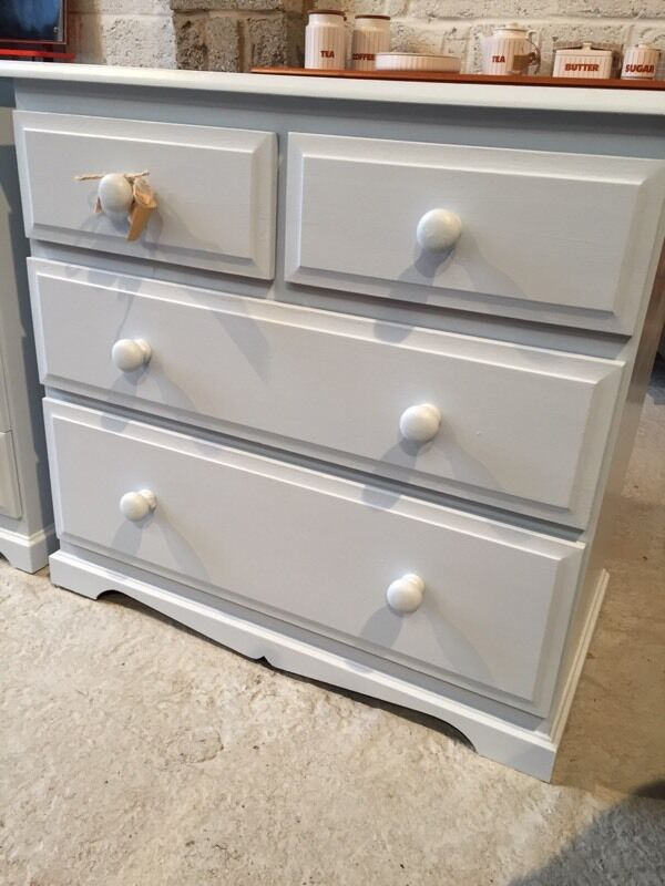 Professionally painted chest of drawers