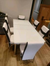 New plain white Dinner table set