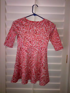 "NEW TCP Christmas ""CANDY CANE"" Scuba Style Dress Girls M (7-8)"