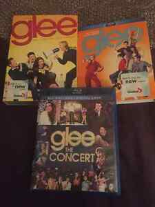 Glee Season 1 DVD Glee Season 2 Blu-ray + Glee Concert Blu-ray