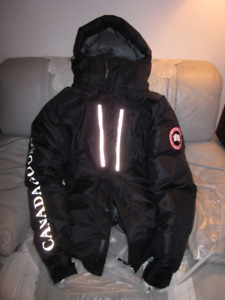 AUTHENTIC MENS CANADA GOOSE BLACK SKRESLET PARKA SIZE L