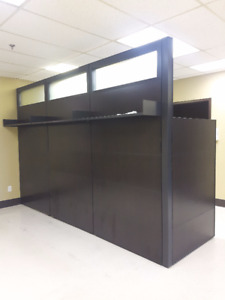Office Wall Divider With Shelving