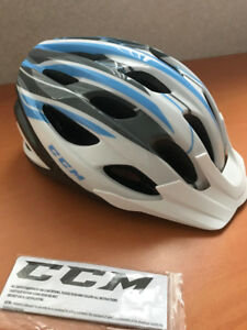 CCM Nexus Bike Helmet (White-blue)
